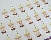 Coffee Stickers, Planner Stickers, Erin Condren Planner Stickers, Filofax Stickers, Agenda Stickers, Plum Paper Planner Stickers