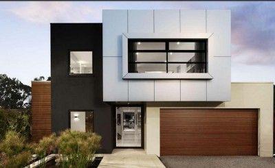 Fachadas casas minimalistas dos plantas moderna planos y for Casas en ele modernas