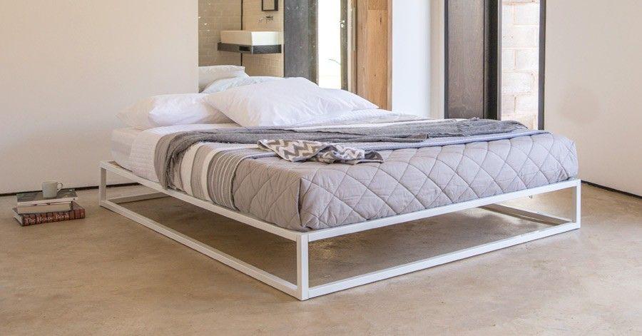 Mondrian Metal Platform Bed No Headboard Metal platform bed