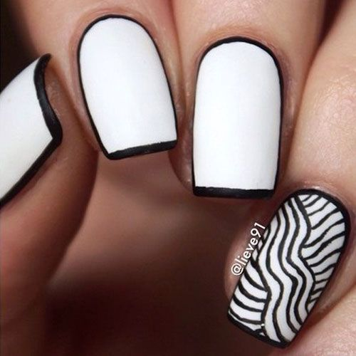 14 White Nail Polish Designs - See them all right here -> http:/ - White Nail Polish Designs – 14 Designs White Nail Polish And White
