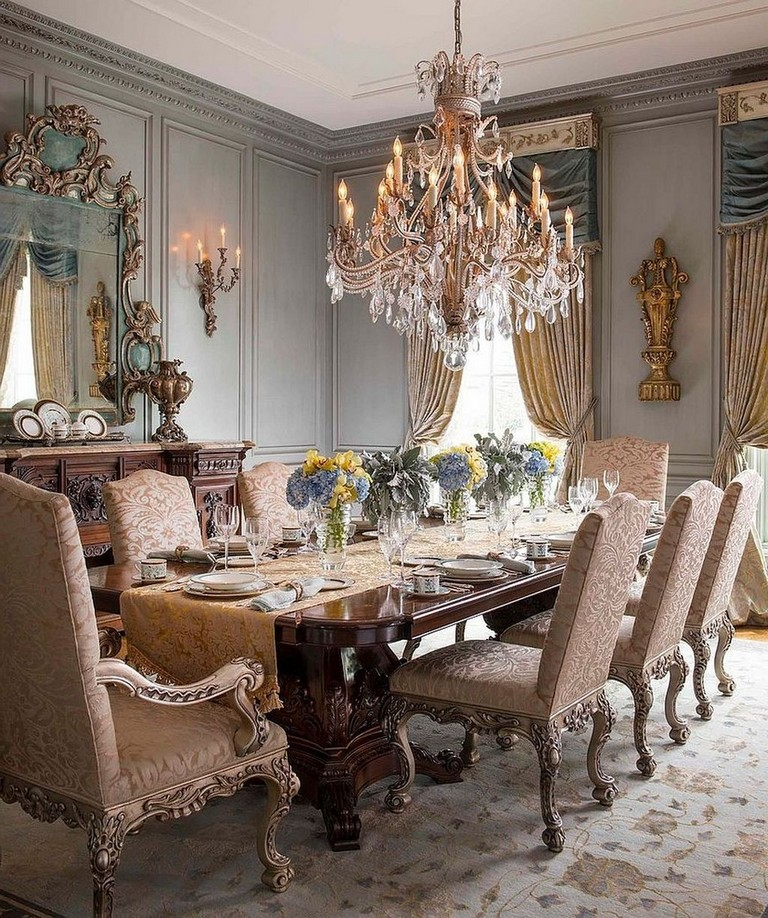 25 Elegant And Exquisite Gray Dining Room Ideas: 25+ Astonishing French Dining Room Design Ideas