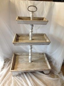3 tier Wood Tray