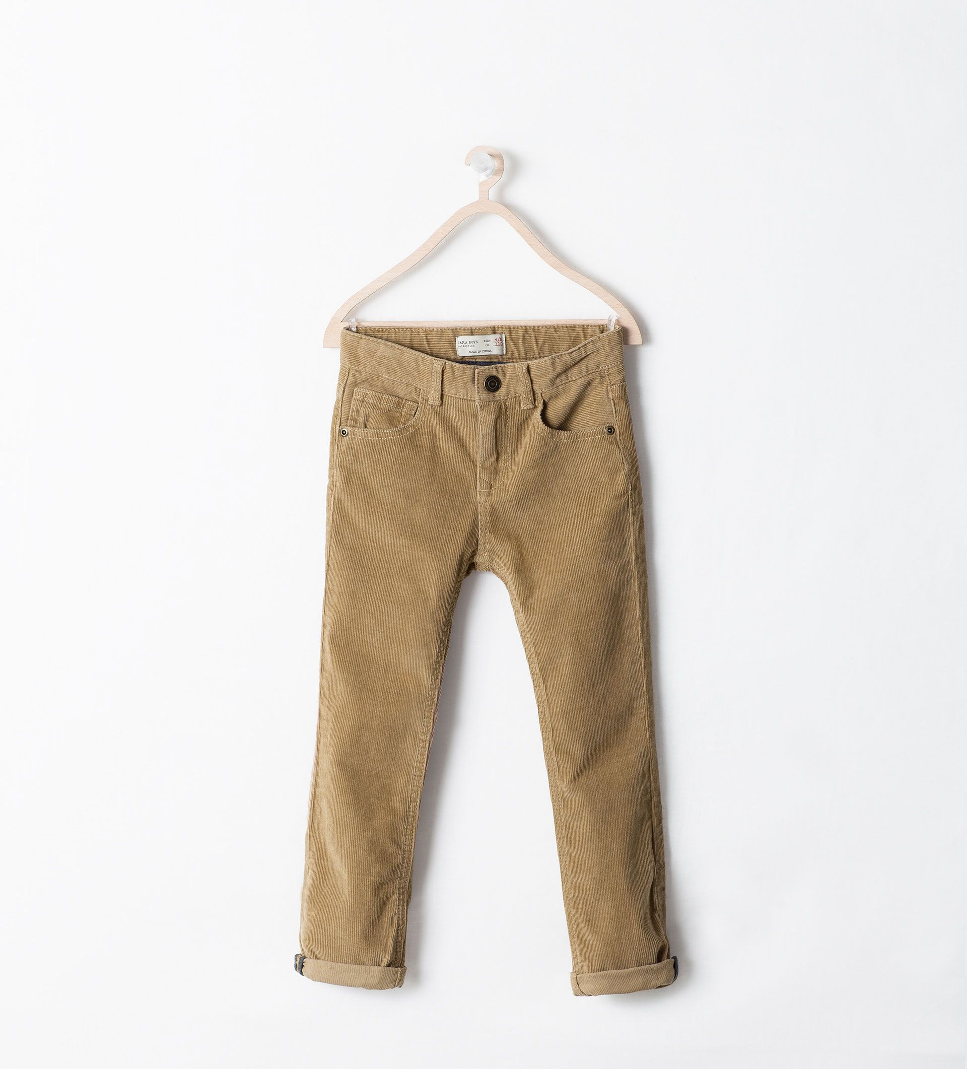 Cole pants- Image 1 of BASIC CORDUROY TROUSERS from Zara