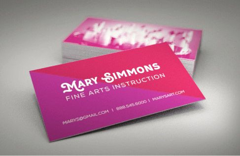 Create Your Own Custom Business Cards With 123print It S Easy Fast And Simple B Custom Business Cards Vertical Business Cards Vertical Business Card Design