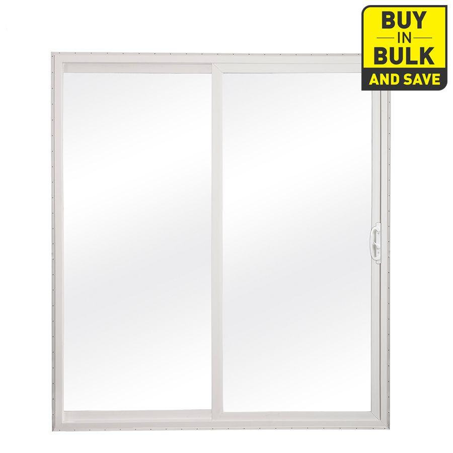 Reliabilt 72 In X 80 In Clear Glass White Vinyl Universal Reversible Double Door Sliding Patio Door Lowes Com Sliding Patio Doors Vinyl Patio Doors Patio Doors