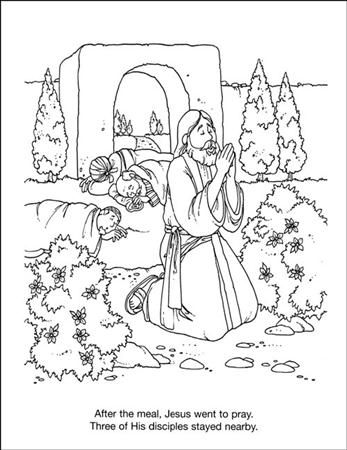 Jesus Praying In Gethsemene Coloring Page Google Search Bible