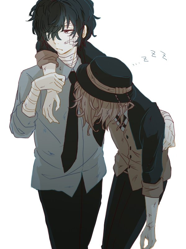"""Dazai is always there to save Chuya from being consumed by """"Tainted"""" power."""
