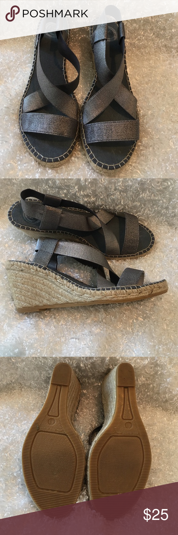 JJILL strapped sandals I have worn these shoes maybe twice. They make me taller than my husband😄. They are JJILL wedges in excellent condition. J. Jill Shoes Wedges