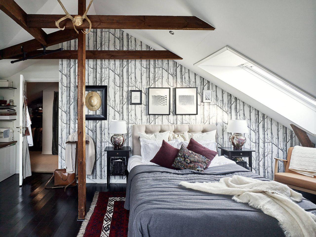 Attic bedroom. Photography by Krister Engström for Stadshem www ...