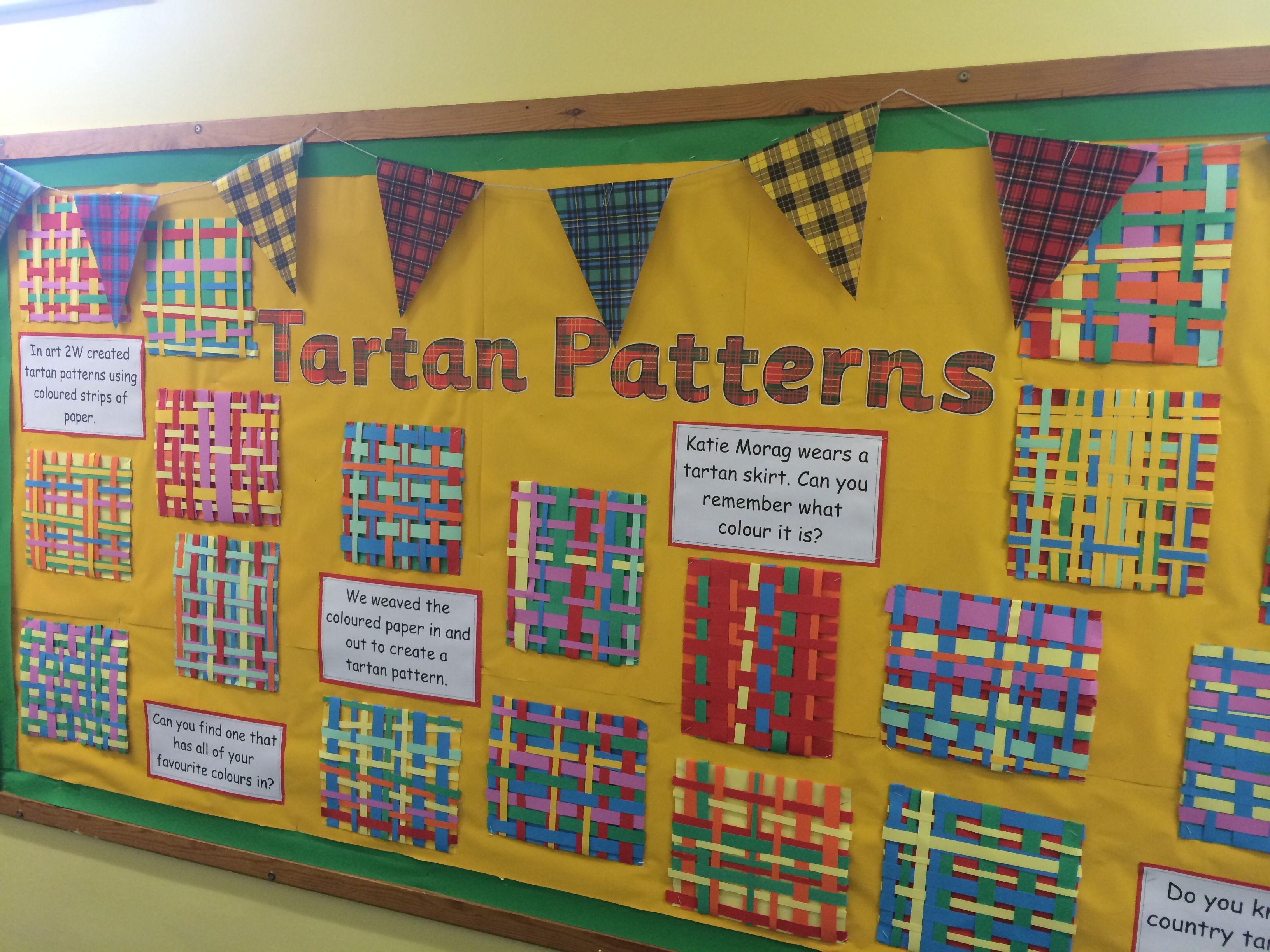 Classroom Design Paper ~ Katie morag tartan weaving teaching ideas