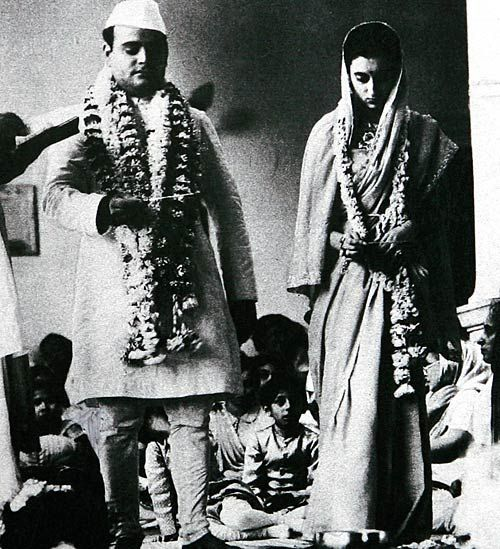 Indira Nehru Marries Feroze Gandhi Abad India