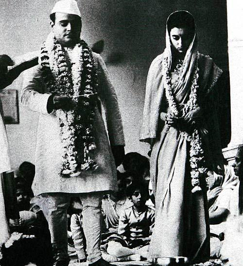 Srimati Indira Priyadarshini Gandhi At Her Wedding