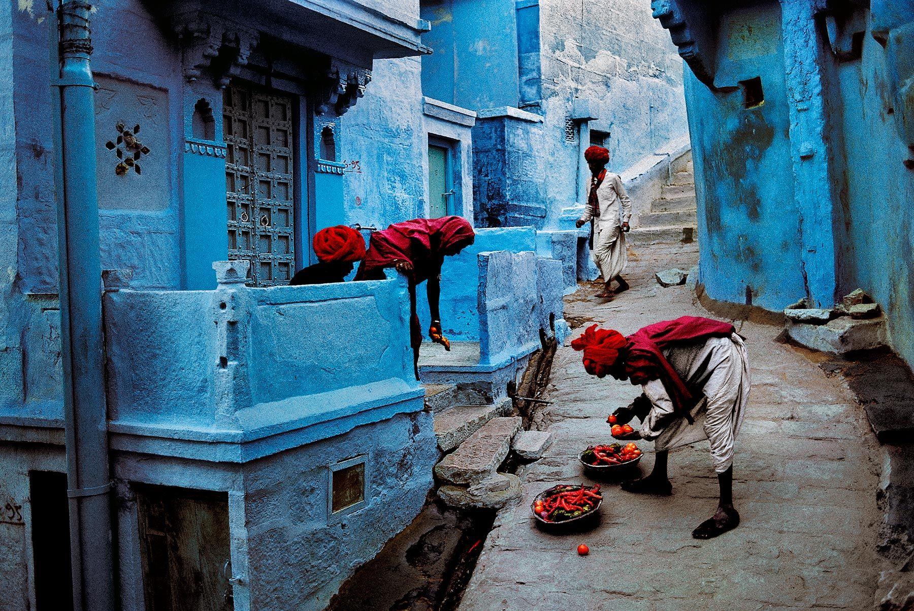 Steve McCurry Jodhpur fruitverkoper