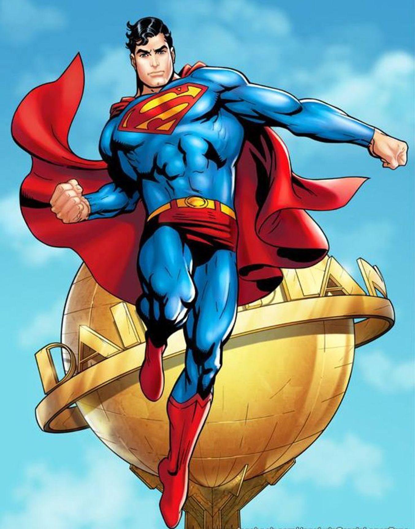 Супермен картинка круглая