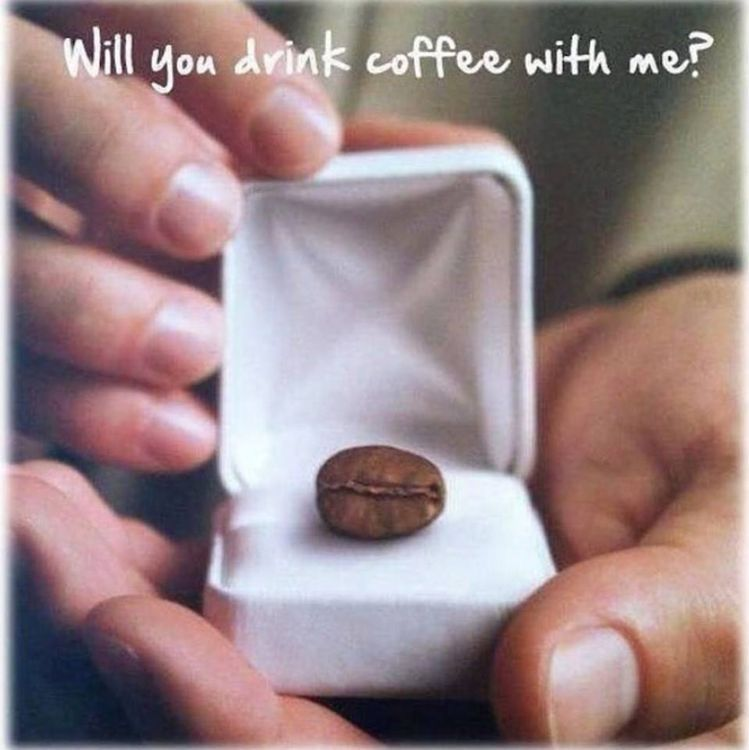 Will You Drink Coffee With Me Proposal Coffee Coffeetime