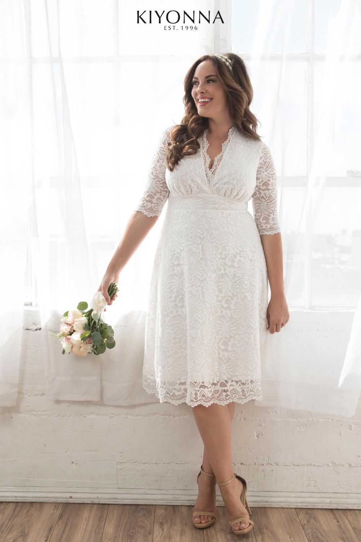 Affordable Plus Size Bridal Dresses Plus Size Bridal Dresses Short Wedding Dress Knee Length Wedding Dress [ 1500 x 1000 Pixel ]