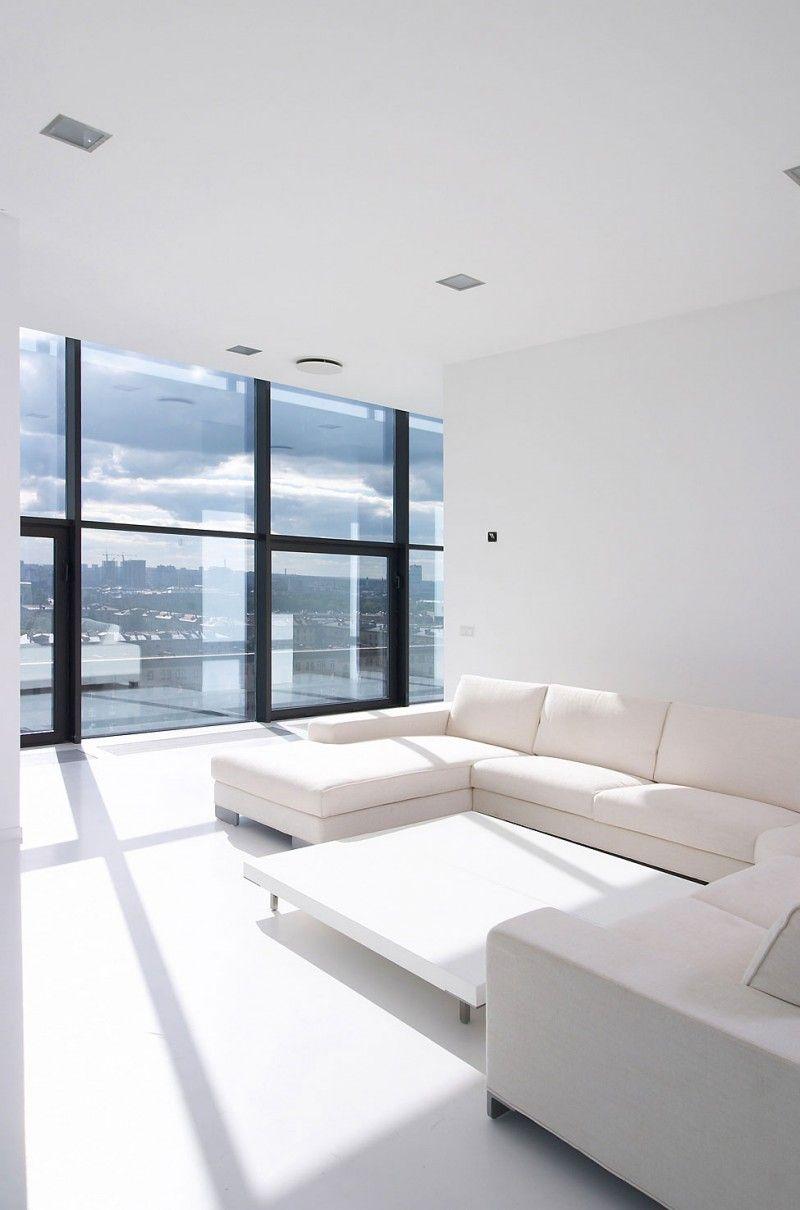 Falcon S Nest Penthouse By Apk Studio Minimalist Living Room Minimal Interior Design Home