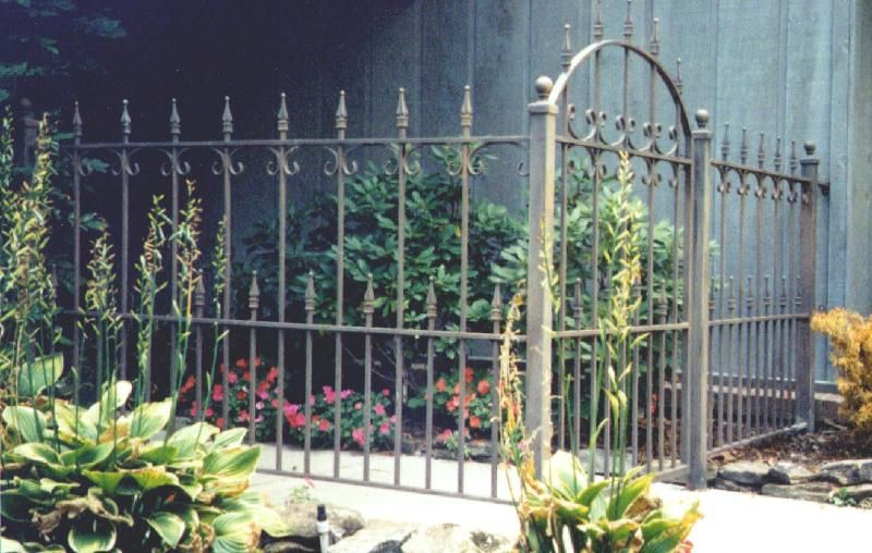 Metal Gates Wrought Iron Fence And Walkway Gate Painted With A