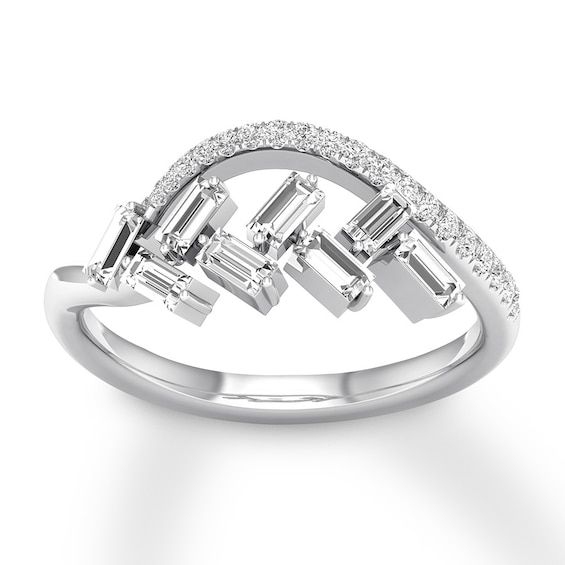 Diamond Ring 3 8 Ct Tw Baguette Round 10k White Gold Jared In 2020 Sterling Silver Jewelry Rings Costume Jewelry Rings 925 Sterling Silver Jewelry