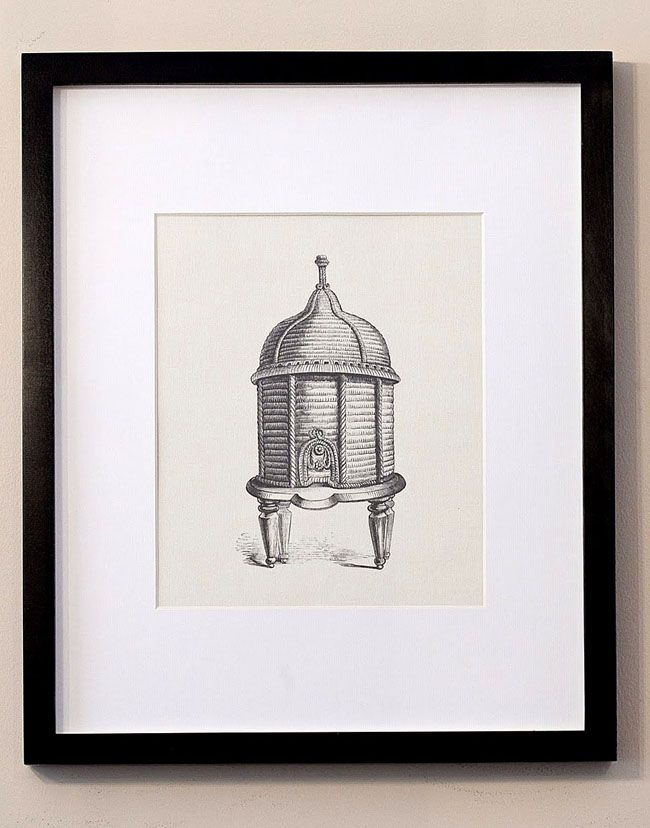 Framed Beehive Art - The Graphics Fairy