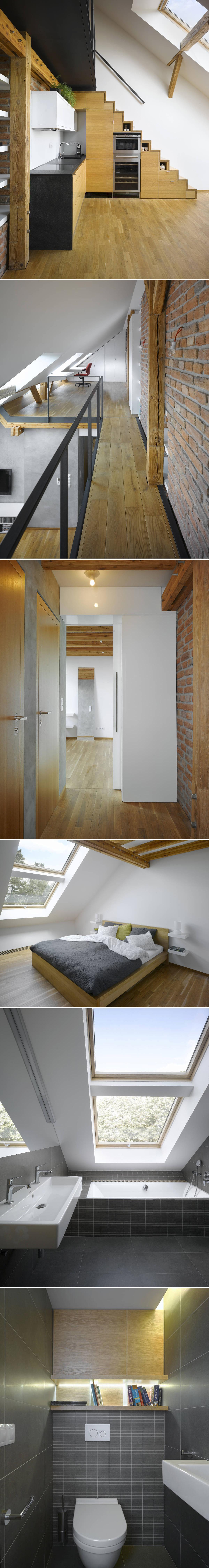 http://www.idesignarch.com/small-attic-loft-apartment-in-prague/