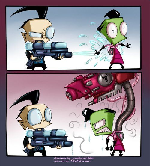 Invader zim dating game