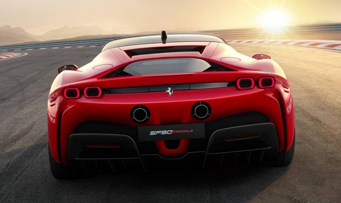 New Ferrari Sf90 Stradale Hybrid Sports Car Ferrari Car Sports Car