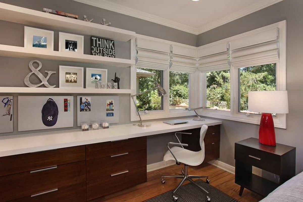 beautiful home offices design ideas pictures remodel and decor - Modern Home Office Guest Room