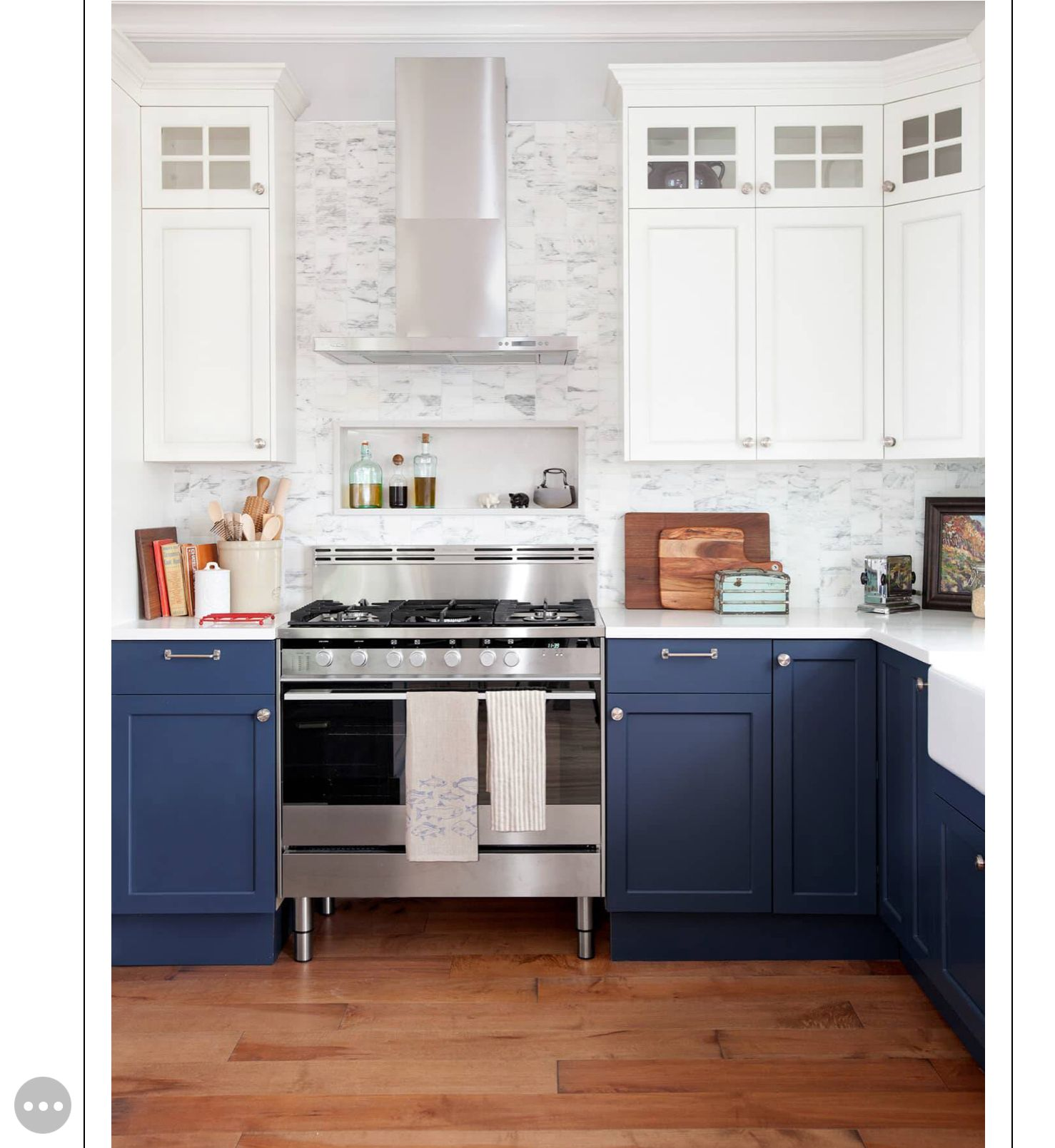 Love This Shade Of Blue! Newbury Port By Benjamin Moore. | Coastal Farmhouse Kitchen, Kitchen Cabinet Remodel, Condo Kitchen