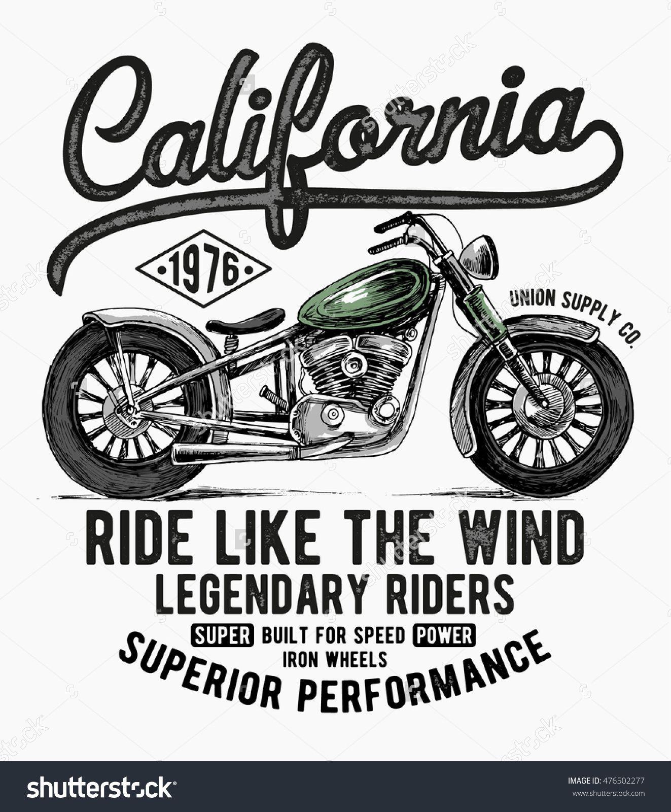 California motorcycle typography e3314ea93