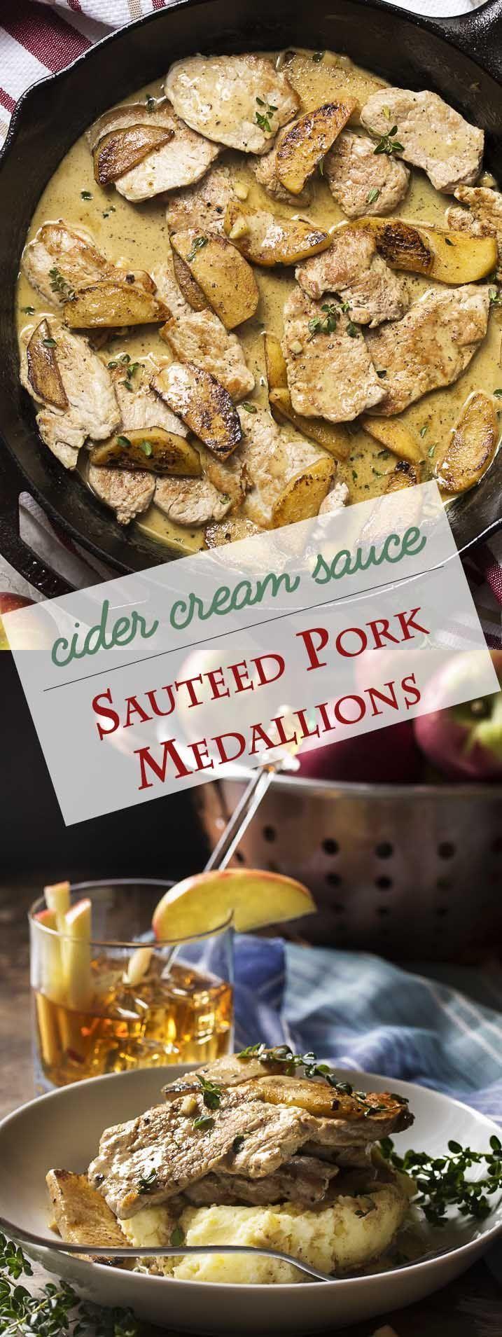 Sauteed Pork Tenderloin Medallions With A Cider Cream