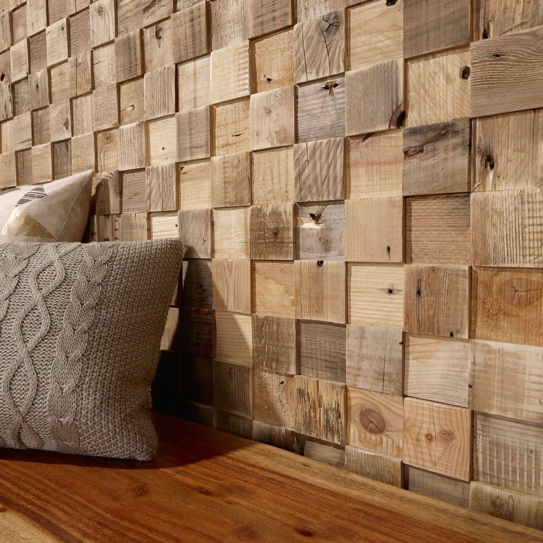 Panneau d coratif en bois mural textur cube - Panneaux decoration murale ...
