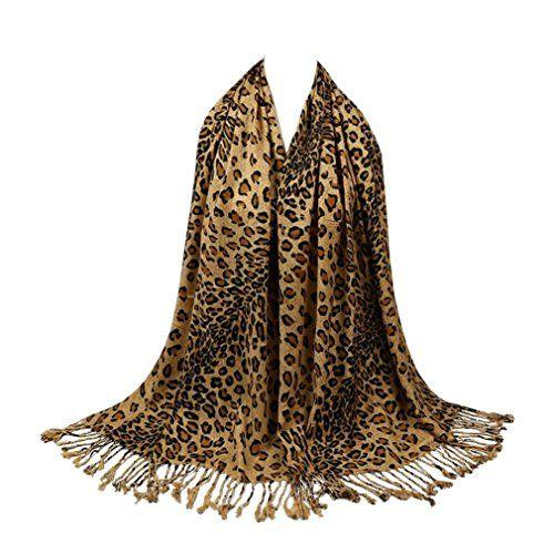 TOPSTORE01 Foulard Chaud Mode Leopard Écharpe Châle Femme Hiver (Brun) fbf8a1ab49f