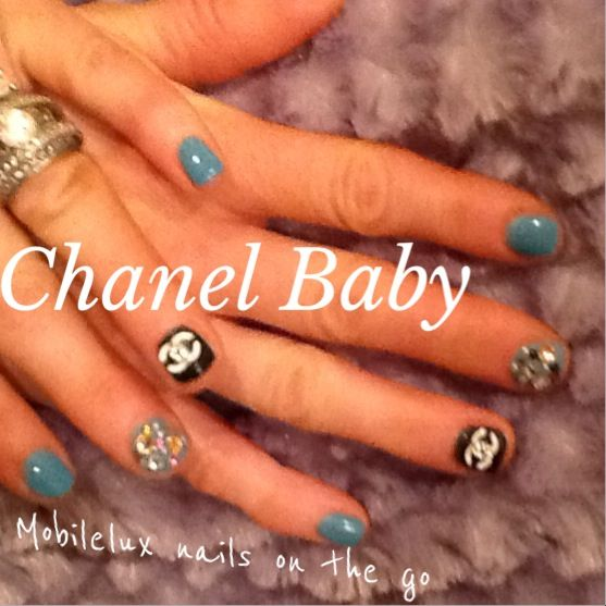 Chanel nail art junk nail art opi gel nails by mobileluxnails.com ...