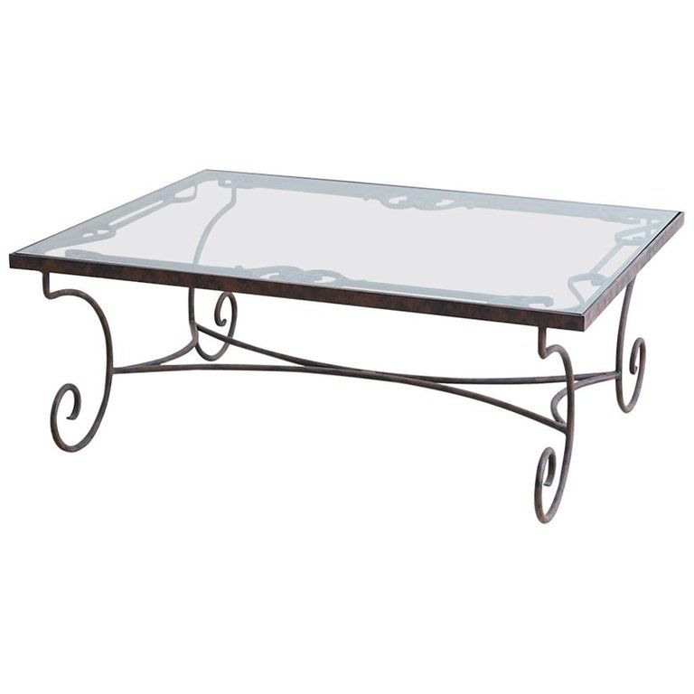 Spanish Style Wrought Iron And Glass Coffee Table Spanish Style