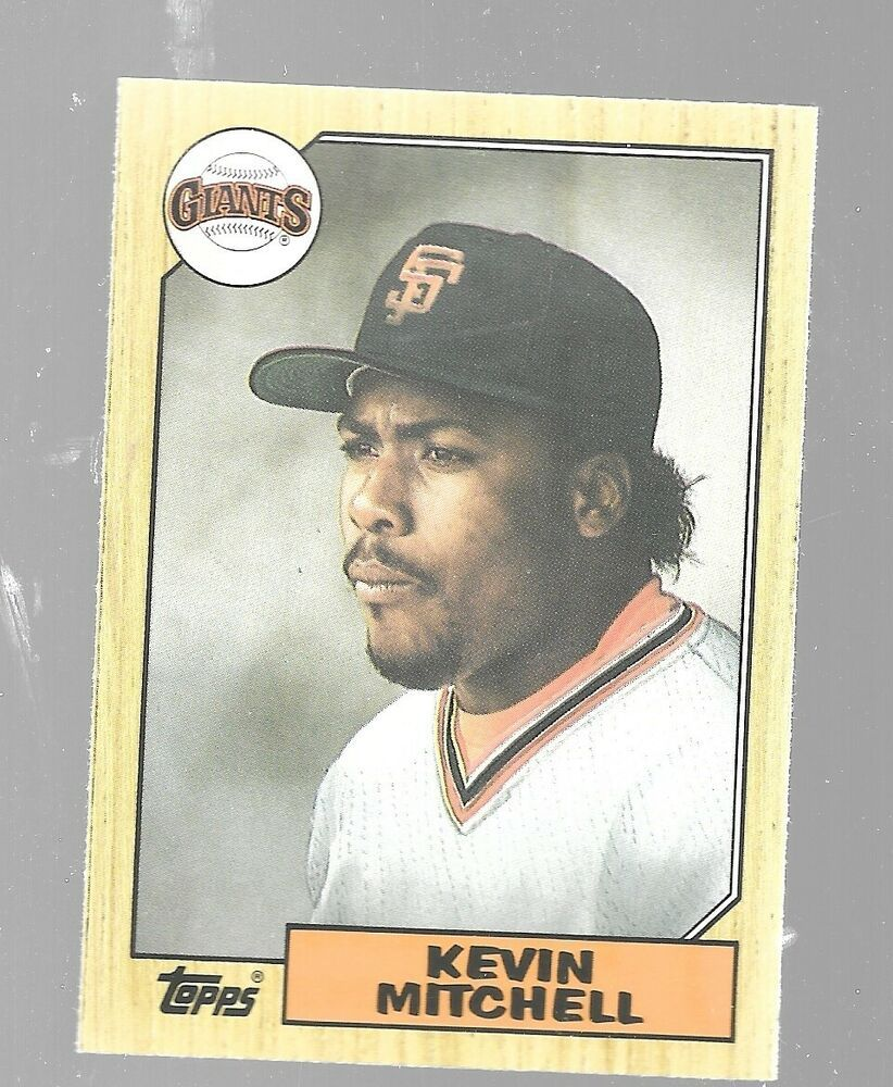1987 Topps Traded Kevin Mitchell 81t San Francisco Giants Rookie Baseball Card Sfgiants San In 2020 Baseball Cards San Francisco Giants Baseball San Francisco Giants