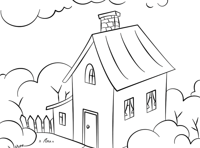 Victorian Garden Coloring Page To Print The Coloring Page Lovely House With Garden Col Free Printable Coloring Pages Free Printable Coloring Coloring Pages