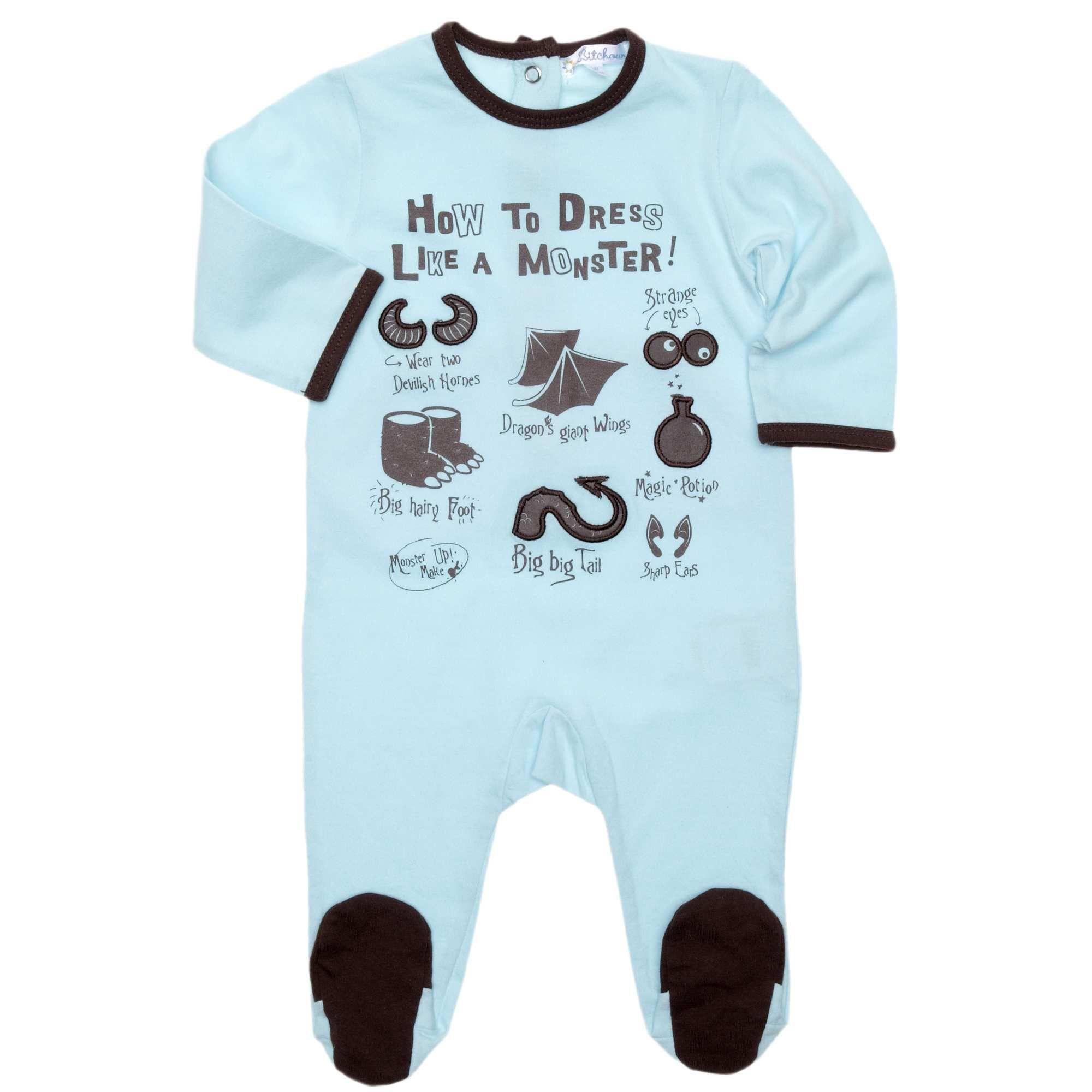 f7e8ac3abd785 Pyjama jersey motifs brodés Bébé garçon - Kiabi - 7