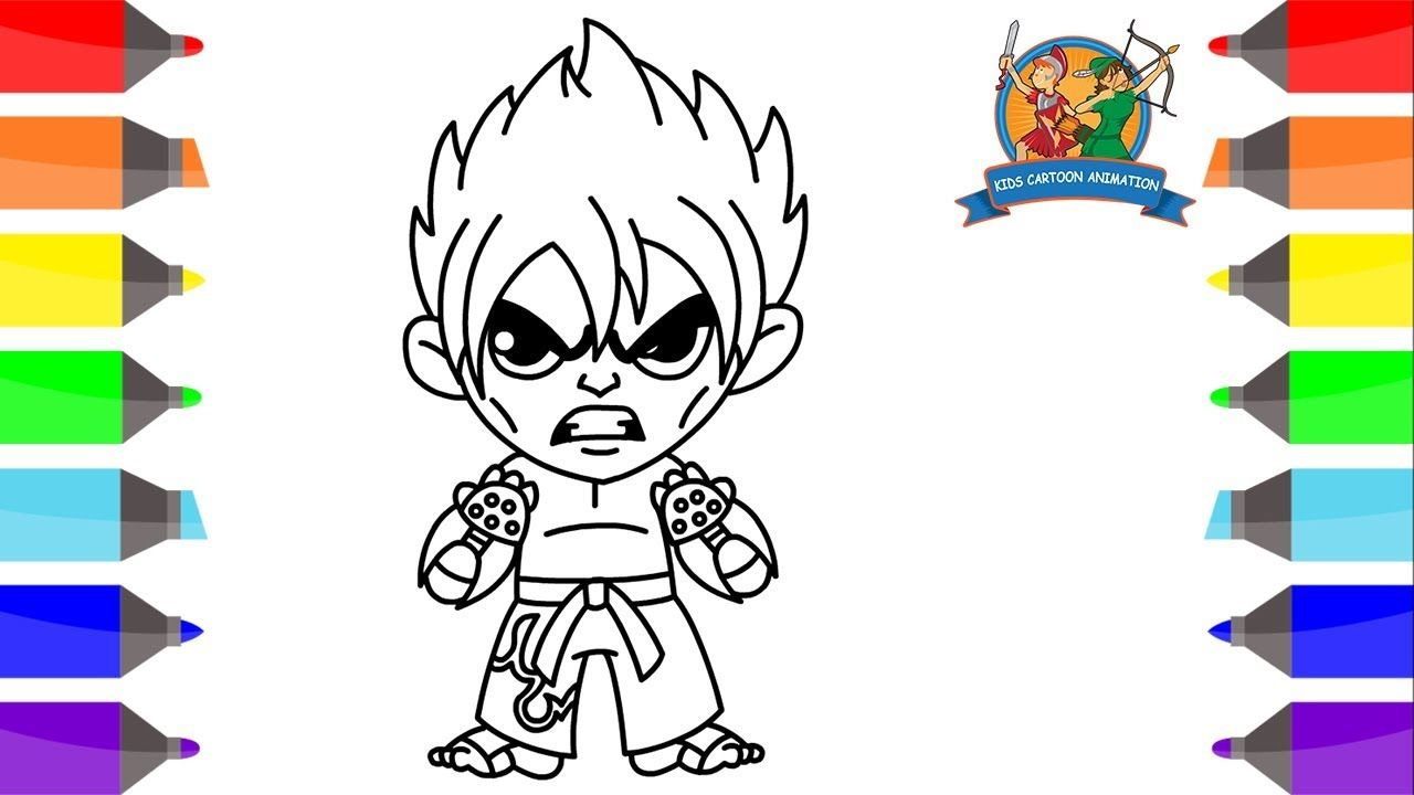 How to Draw Jin Kazama for Kids-Coloring Pages for Kids-Jin Kazama ...