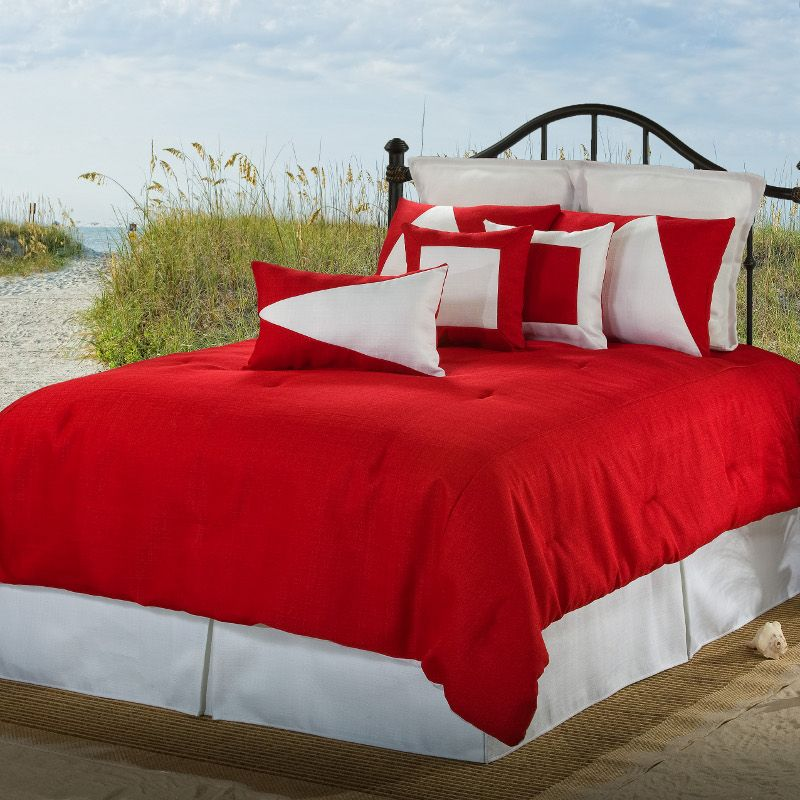 Latitude 12 Red White Twin XL Comforter Set Latitude 12 Red White Twin XL  Comforter Set By Victor Mill The Comforter In This Set Is 96 Extra Long!