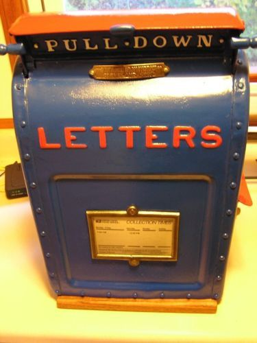 Antique U S Postal Mail Box Cast Iron