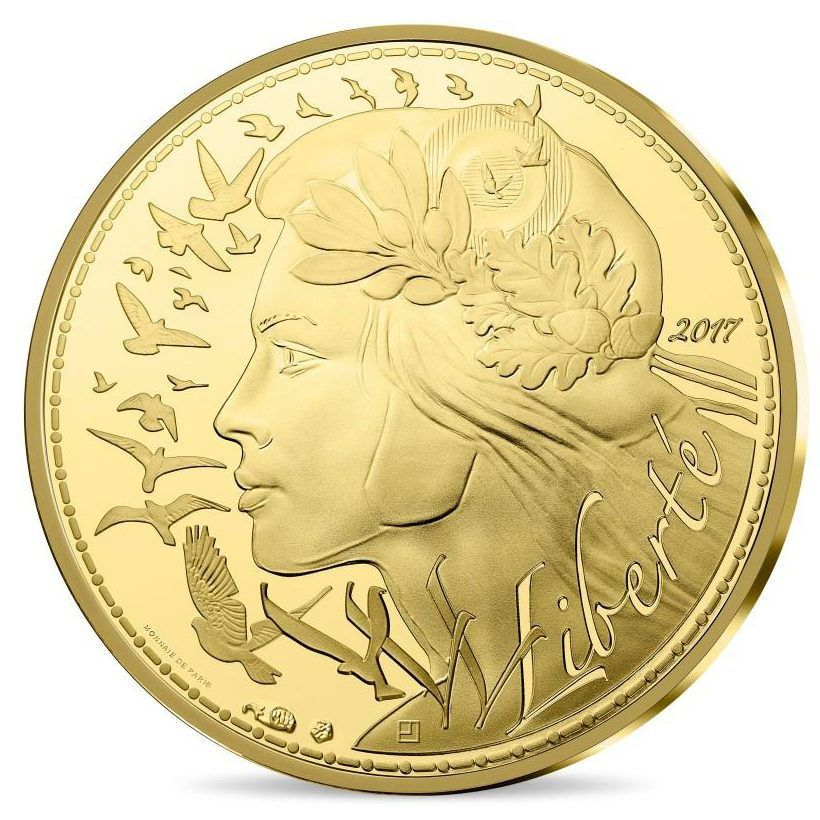 New Liberty Gold And Silver Coins From France Gold And Silver Coins Coins Silver Coins