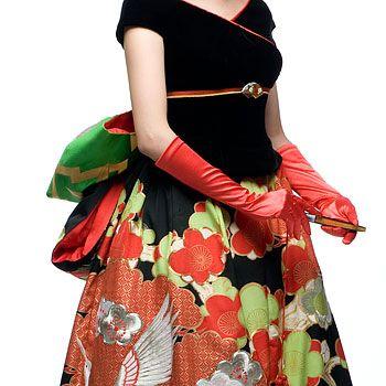 ef14afbf5db6b 着物リメイク  きものリメイク  着物ドレス  きものドレス  和ドレス ...