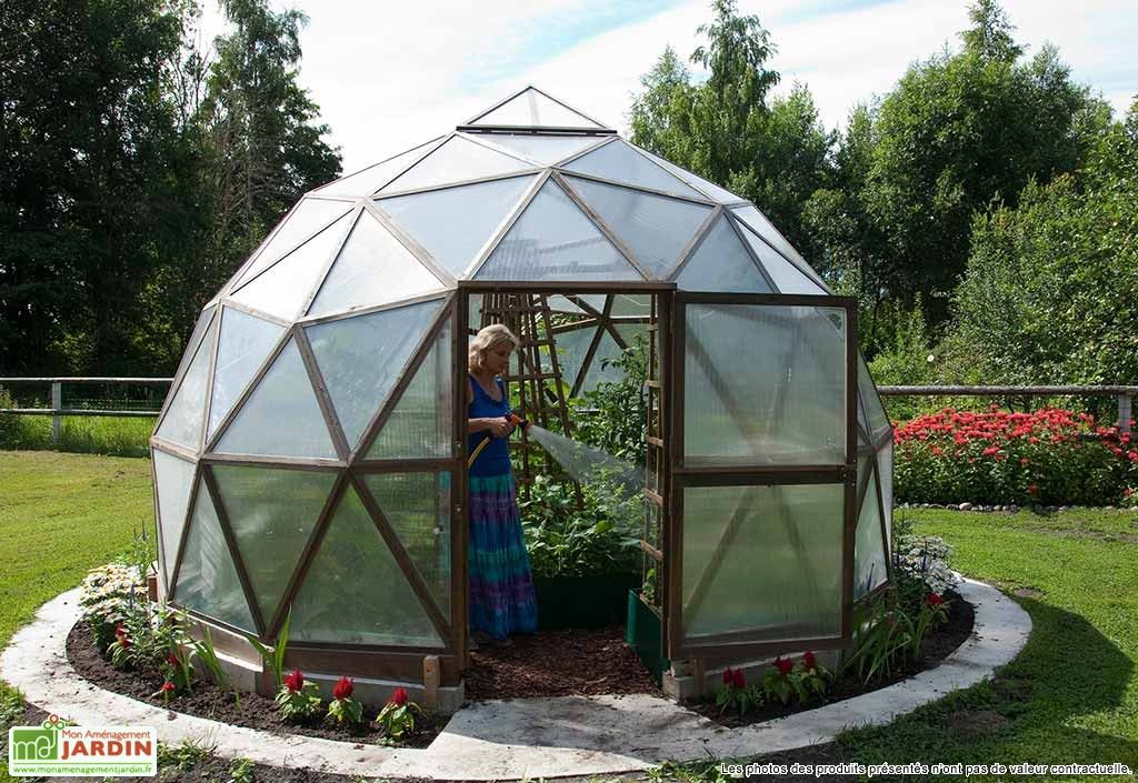 Serre Geodesique En Polycarbonate Vivero O 4 5m Serre Dome Geodesique Maison Verte Dome Geodesique