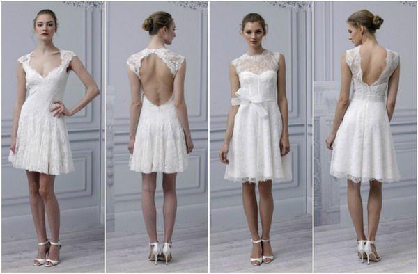 Brautkleid kurz in weiß | vestidos | Pinterest | Short wedding ...