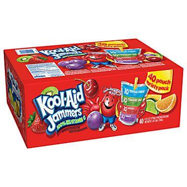 Kool Aid Jammers Variety Pack 40 Ct Sam S Club Kool Aid Cherry Drink Kids Juice