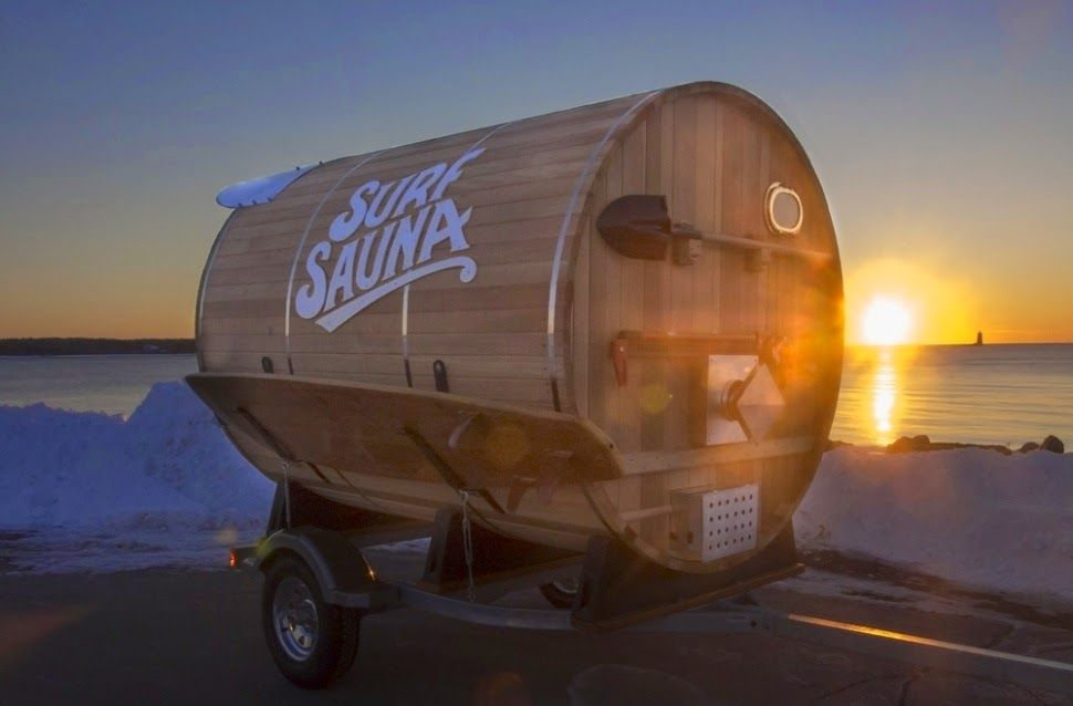Mobile sauna offers warm refuge for chilled out surfers (20 Pics)
