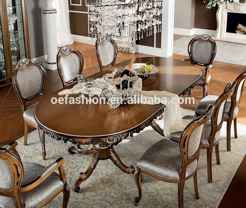 Oe Fashion 8 People Seat New Classic Wood Dining Table View Wood Dining Table Designs O Dining Room Furniture Styles Luxury Dining Room Dining Room Furniture