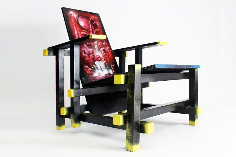 mesa con sillas rietveld