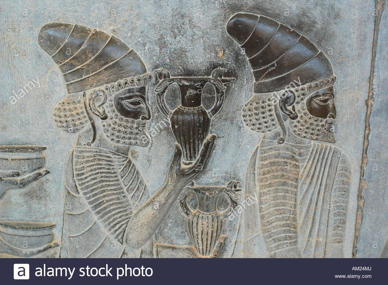Slaves And Soldiers Carry Gifts For Persian Emperor In Xerxes Palace Persepolis Iran Stock Photo Ancient Persia Ancient Persian